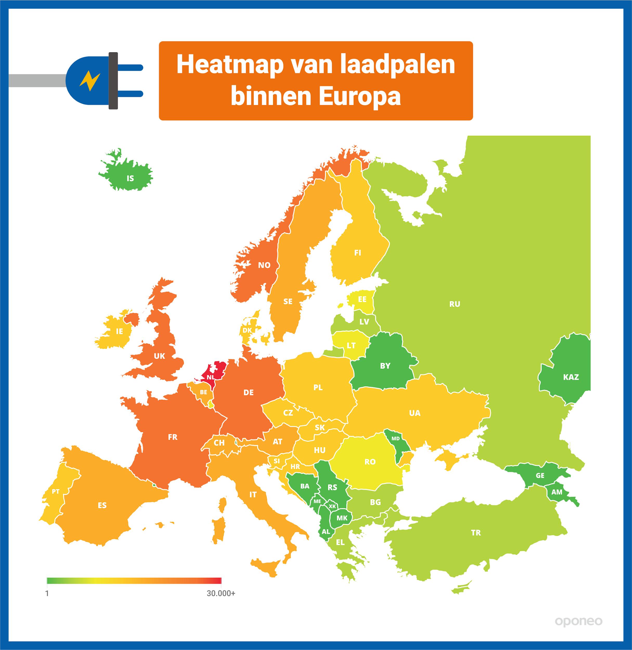 laadpalen europa